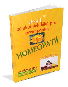 20 akutních léků pro první pomoc homeopatií