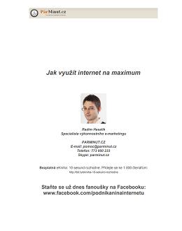Jak využít internet na maximum