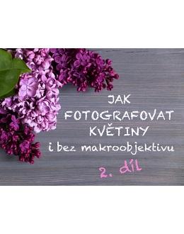 Jak fotografovat květiny i bez makroobjektivu 2. díl