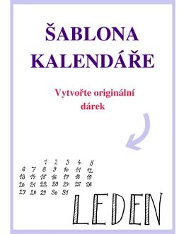 Šablona kalendáře – vytvořte originální dárek